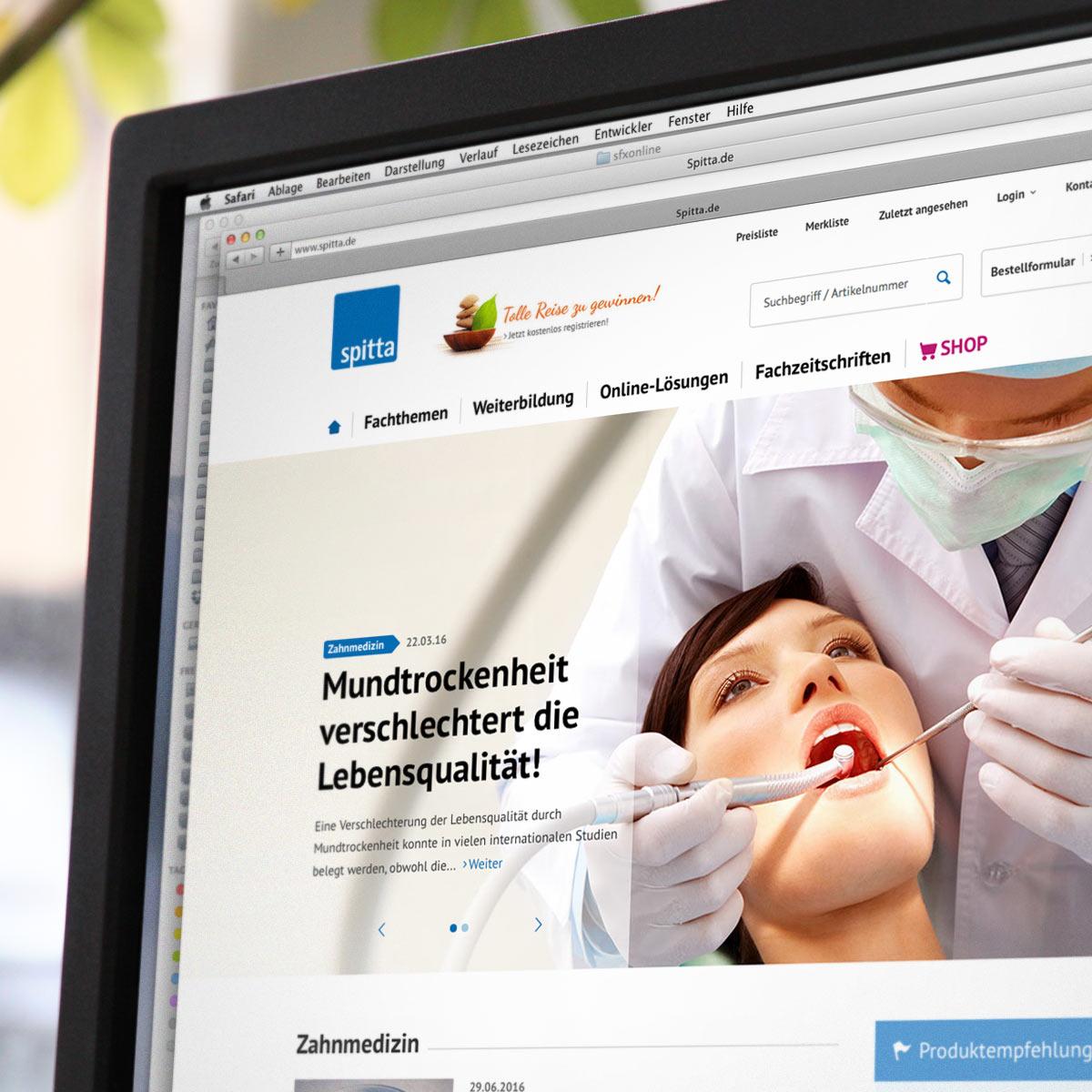 WebDesign Referenz spitta.de